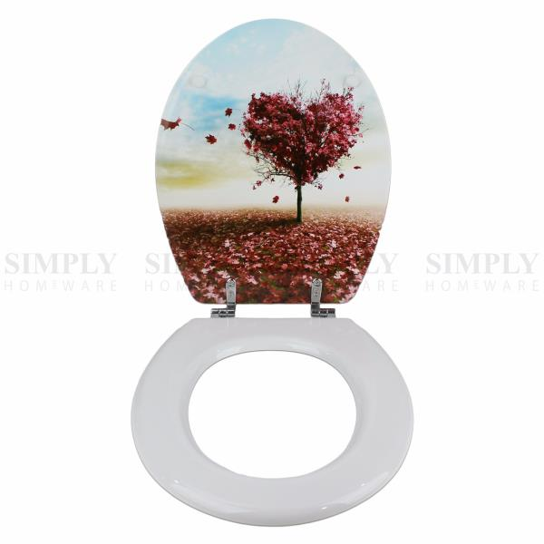 Toilet Seat And Cover Lid Designer Hard Bathroom Covers WC Bath Seat Lids EBay