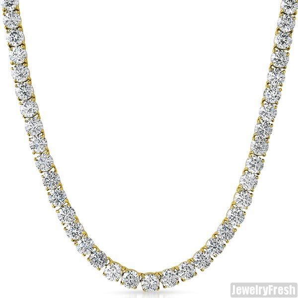14k Gold Ip Top Quality 115 Carat Flawless Cz Iced Out