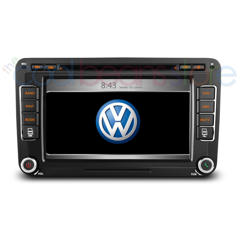 vw golf mk5 mk6 7 touch screen car stereo satnav gps. Black Bedroom Furniture Sets. Home Design Ideas