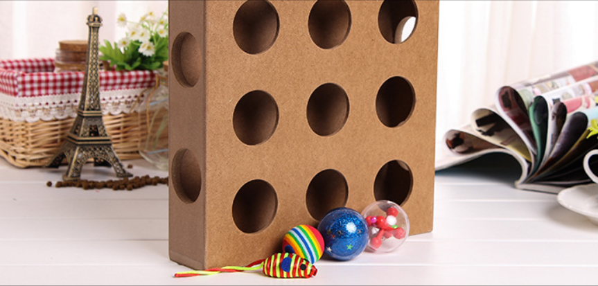 Peek A Prize Toy Box : Cat toys peek a prize wooden interactive toy box