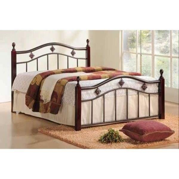 new twin full queen wood metal mattress foundation bed frame headboard footboard ebay. Black Bedroom Furniture Sets. Home Design Ideas