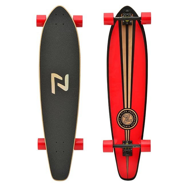 Z-Flex Skateboard Complete RED Roundtail Longboard by Zflex New RRP $210 wth FREE POST from kingpin skate supply