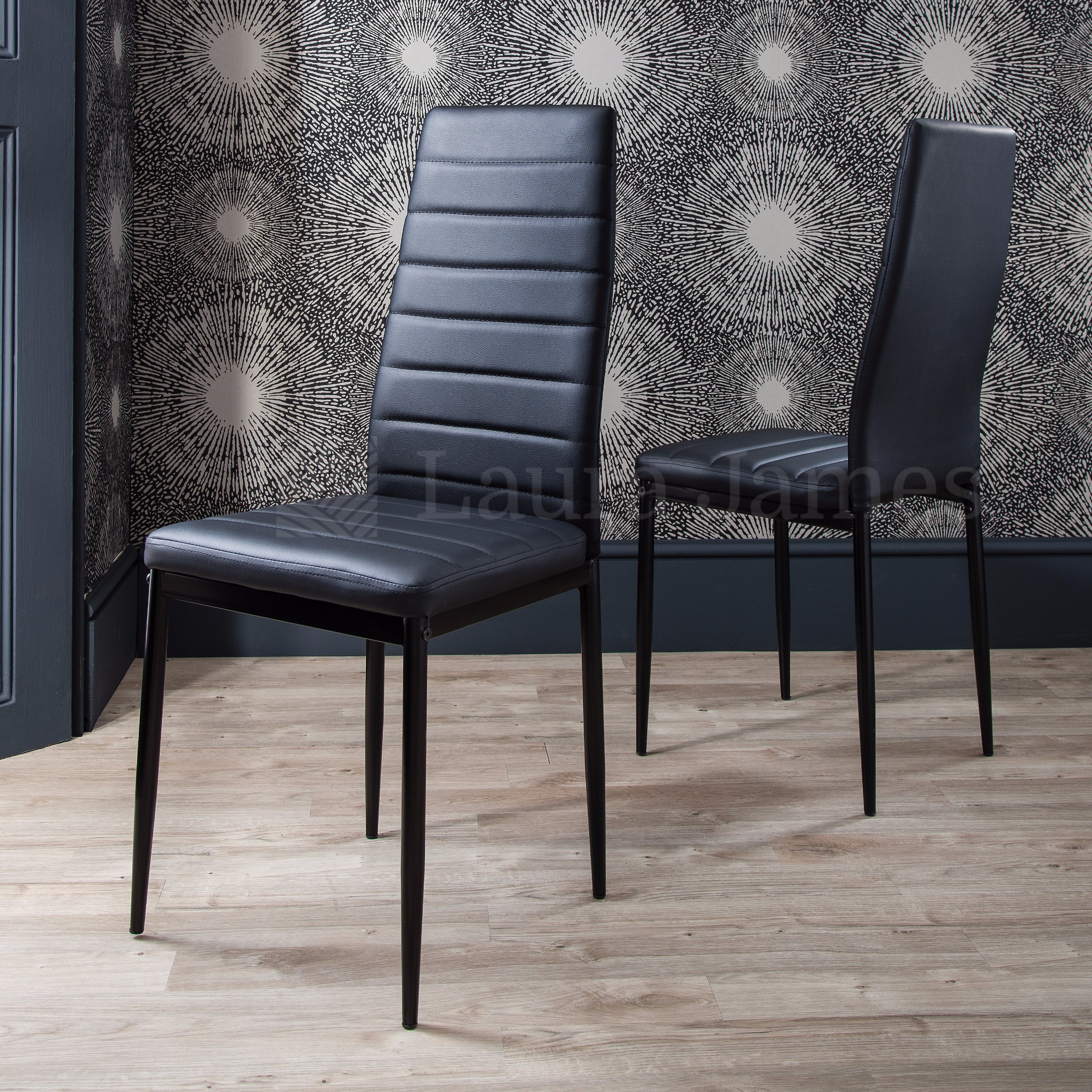 dining table and 4 chairs set glass dining table black and white