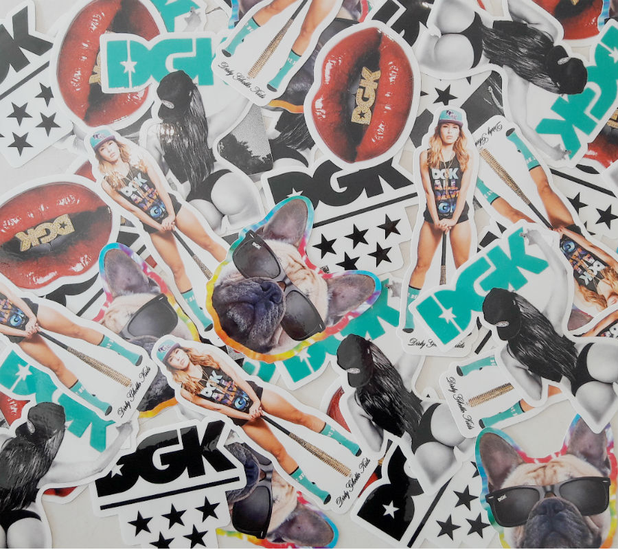 DGK Stickers 5 Pack Assorted FREE POST Dirty Ghetto Kids Skateboard Sticker decal