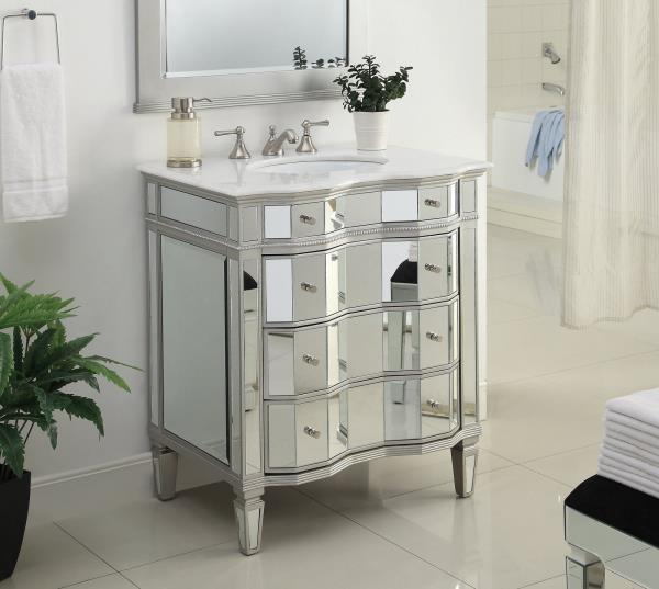 30 all mirrored bathroom sink vanity cabinet model bwv 025 30 ebay