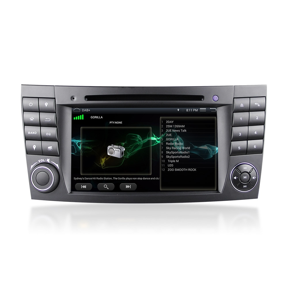 mercedes e class w211 android 5 1 dab head unit sat nav. Black Bedroom Furniture Sets. Home Design Ideas
