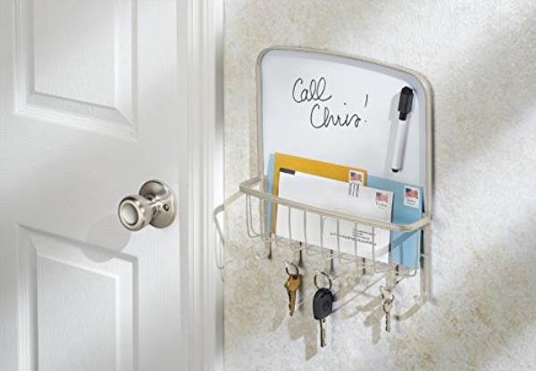 Stunning Wall Mount Mail Letter Organizer Key Holder Dry Erase Board With Mail  Organizer Wall With Kitchen Mail Organizer