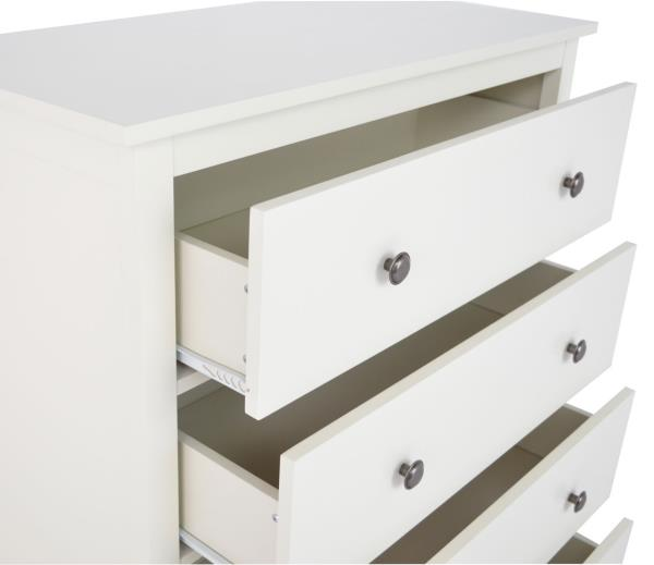 new annabelle 4 drawer chest of drawers wide ivory white ebay