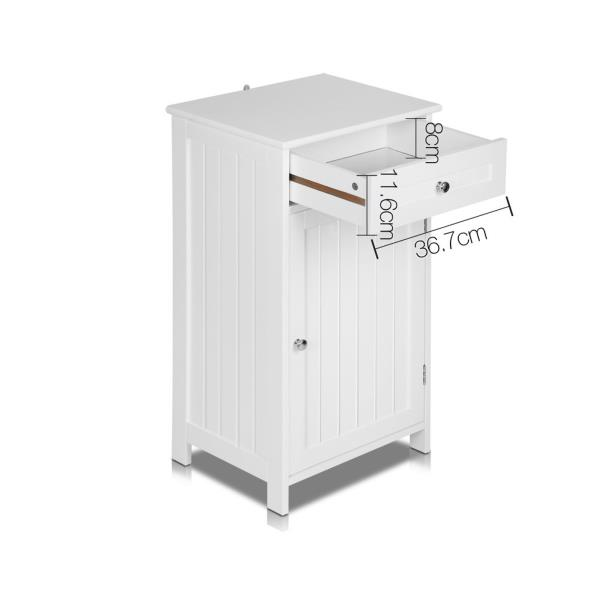 storage cupboard small single door drawer bathroom laundry cabinet new