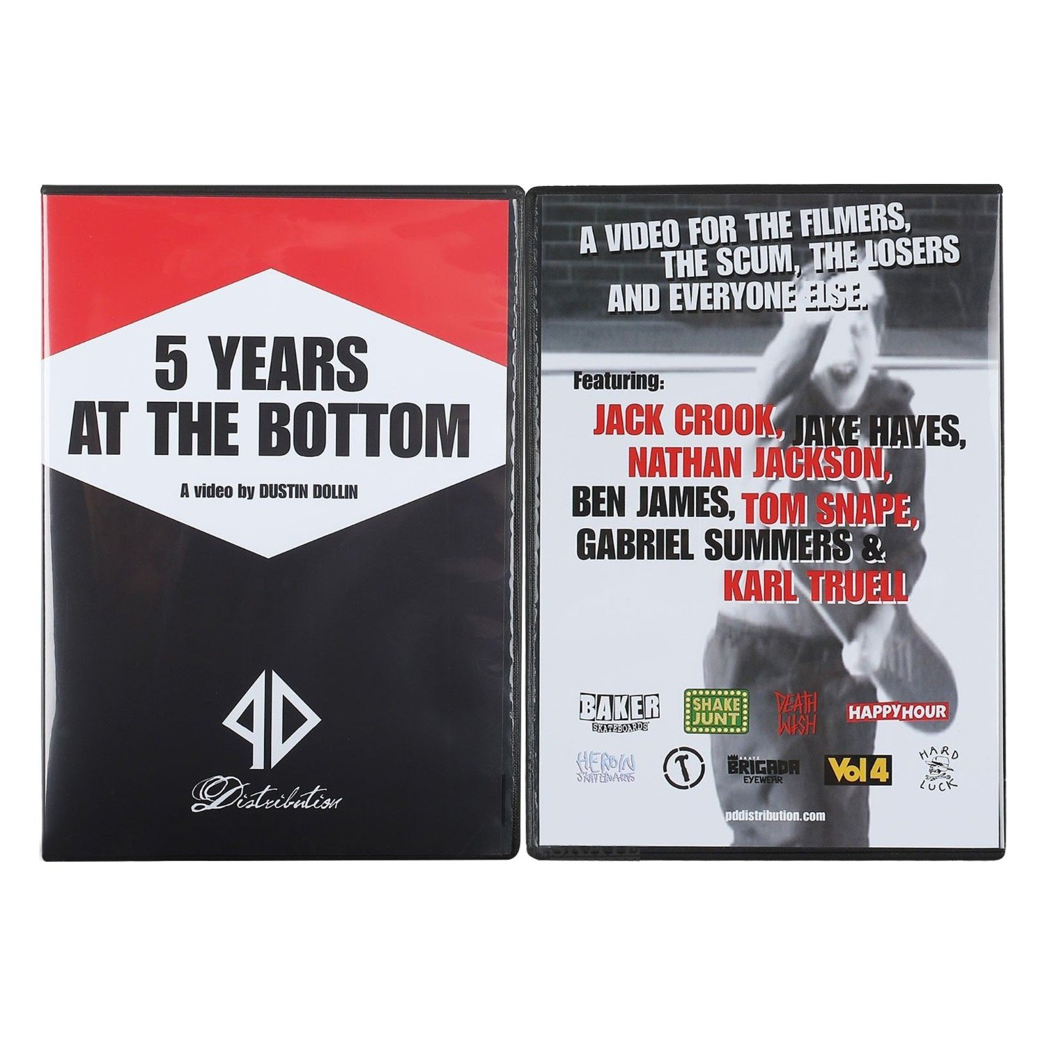 PD DIST 5 Years At The Bottom DVD by Baker skateboards Piss Drunx dustin dollin New Video FREE POST