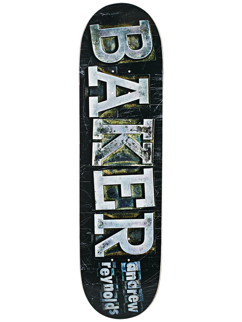 Baker Skateboard Deck Andrew Reynolds 8.25 Typeset FREE GRIP and Post new