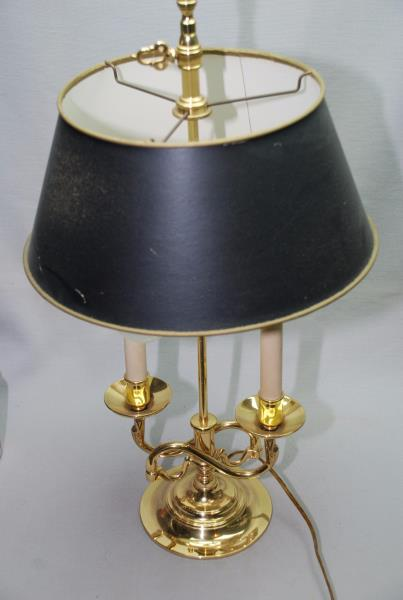 BALDWIN BRASS BOUILLOTTE SERPENTINE DOUBLE LAMP WITH
