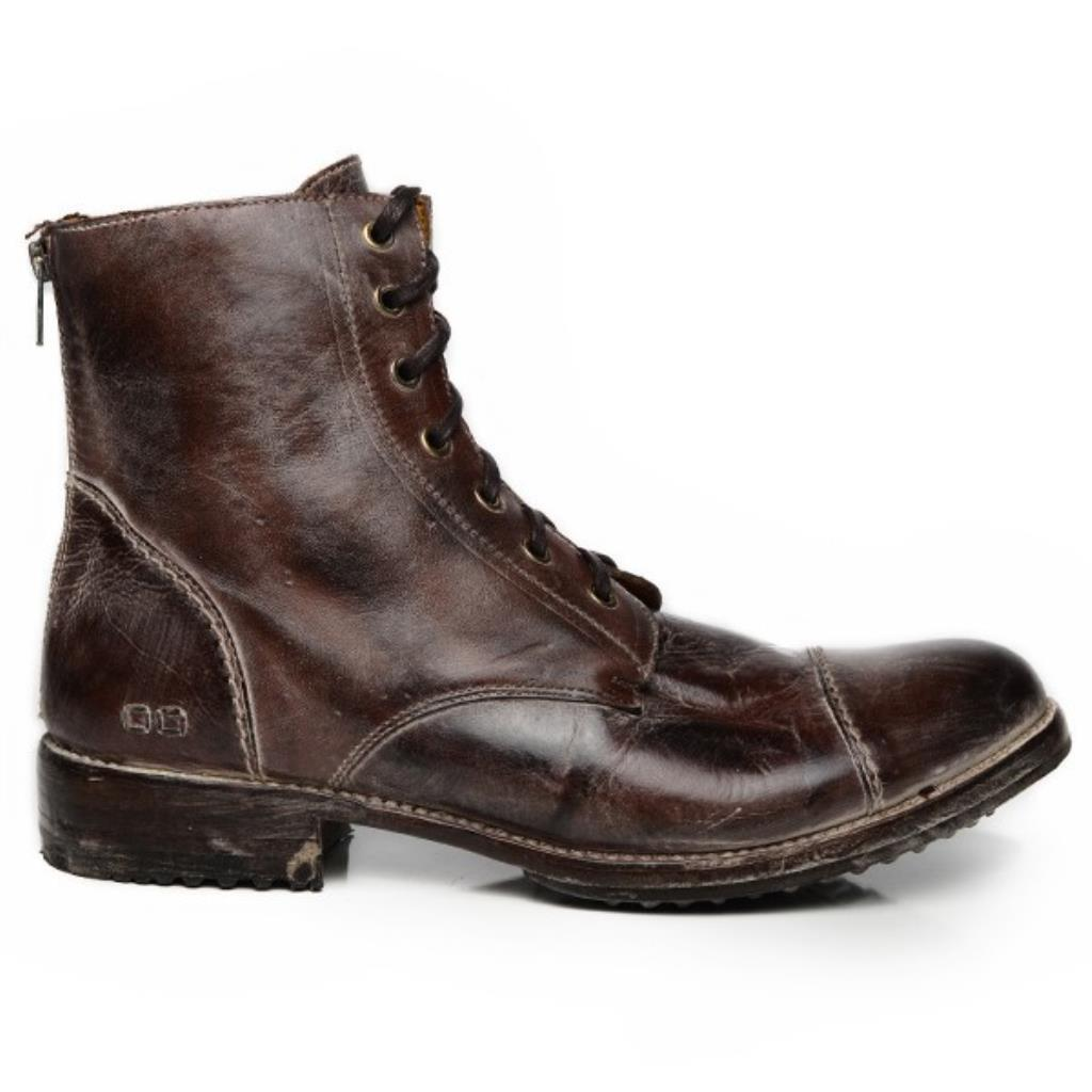 Bed Stu Men's Protege Teak Brown Rustic White Boots Shoes