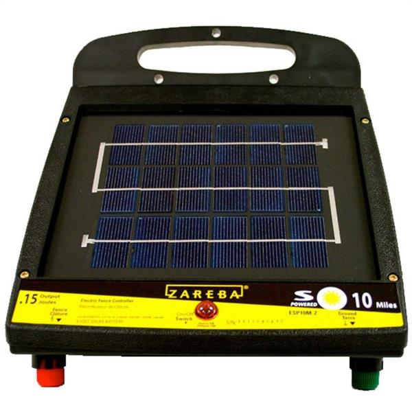 10 Mile Low Impedance Solar Fencer Electric Fence Charger