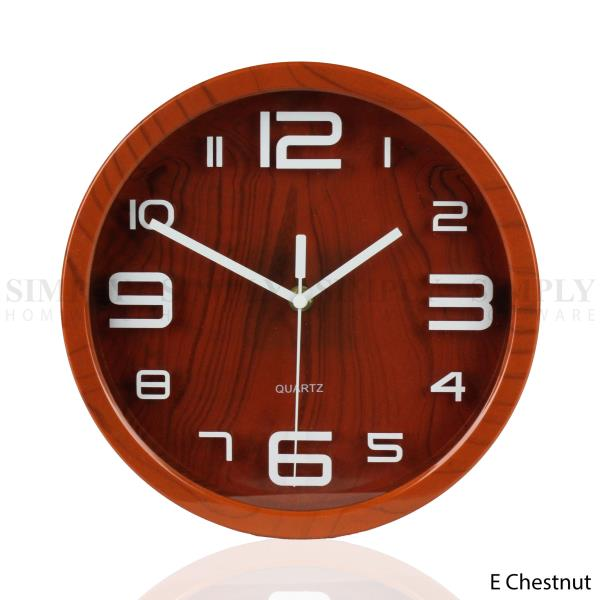 Wall Clock Large Modern Clocks Kitchen Black White Red