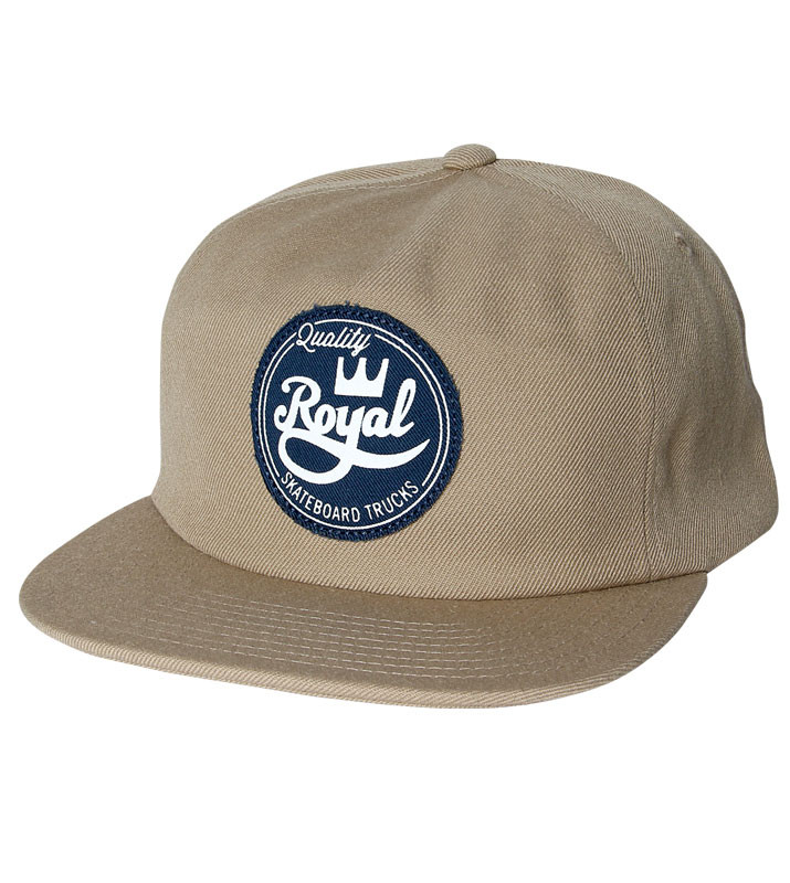Royal Trucks Cap Seal Khaki Unstructured FREE POST New Skateboard Snapback Hat OSFA