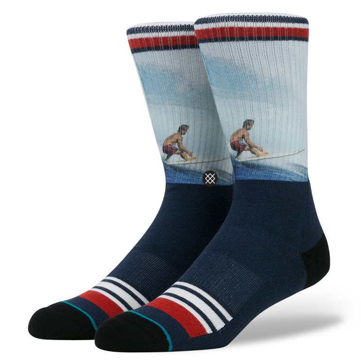 Stance Socks Mark OCCY Occhilupo Surf Legends Sox SIZE L-XL FREE POST New