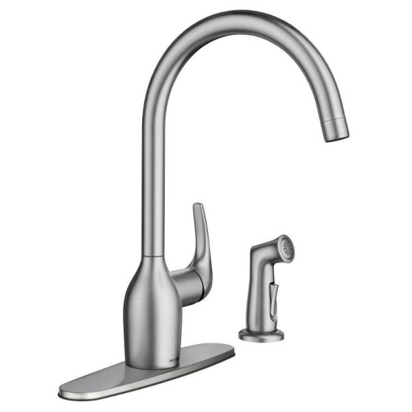 Moen Essie Single Handle Side Sprayer Kitchen Faucet in