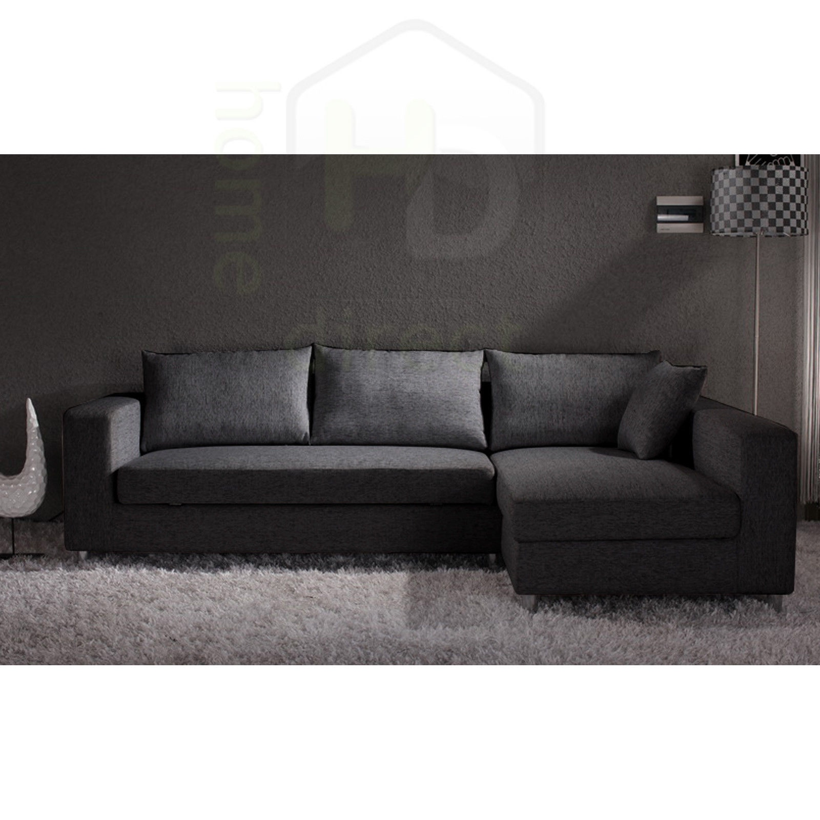 Sofa Bed Ebay Sydney: KYRA Modern Retro Fabric Sofa Bed Couch Chaise Lounge