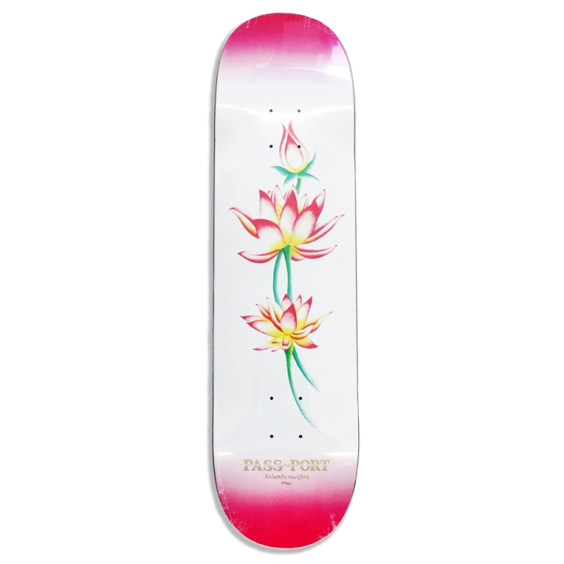 PASS~PORT Skateboard Deck Attractive Floral Nelubmo FREE GRIP Passport Passportal Pass-Port Pass Port FREE POST