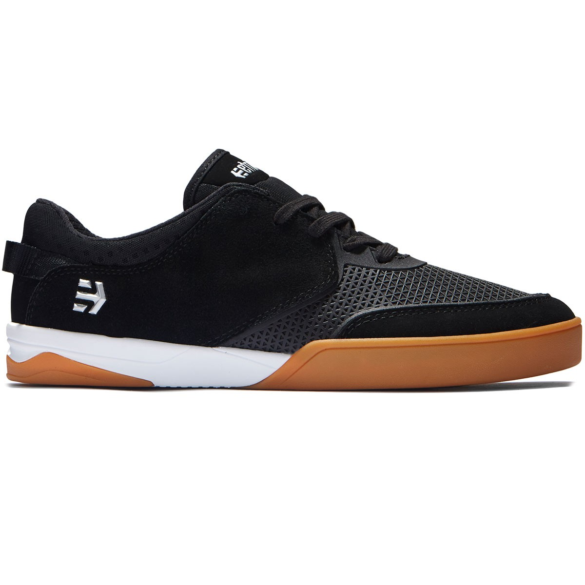 Etnies Shoes Helix Black White Gum Barney Page New FREE POST Skateboard Sneakers