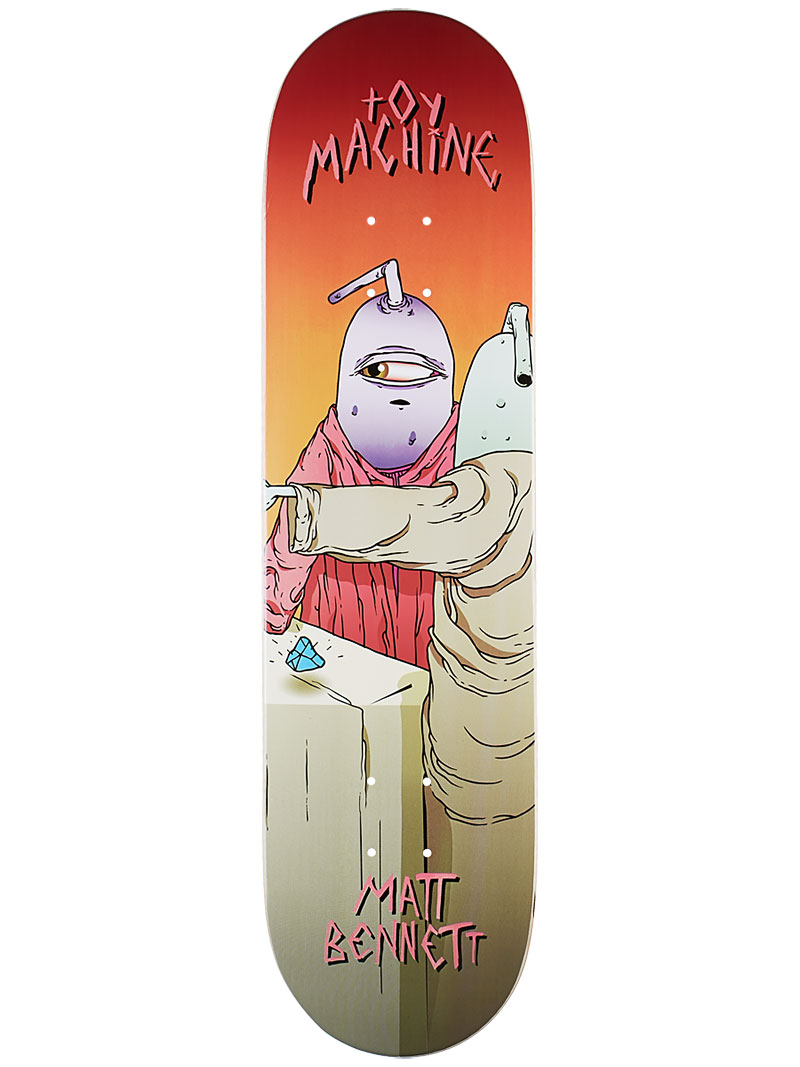Toy Machine Skateboard Deck Bennett Last Supper 8 Pro 1 of 8 FREE POST & FREE GRIP