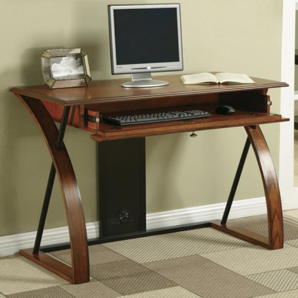 Details about Contemporary Computer Desk Home Office Furniture With