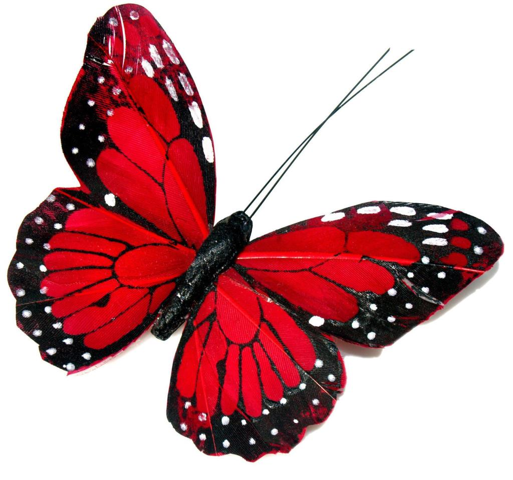 24 x pretty red butterflies edible cupcake toppers rice paper b65 ebay. Black Bedroom Furniture Sets. Home Design Ideas