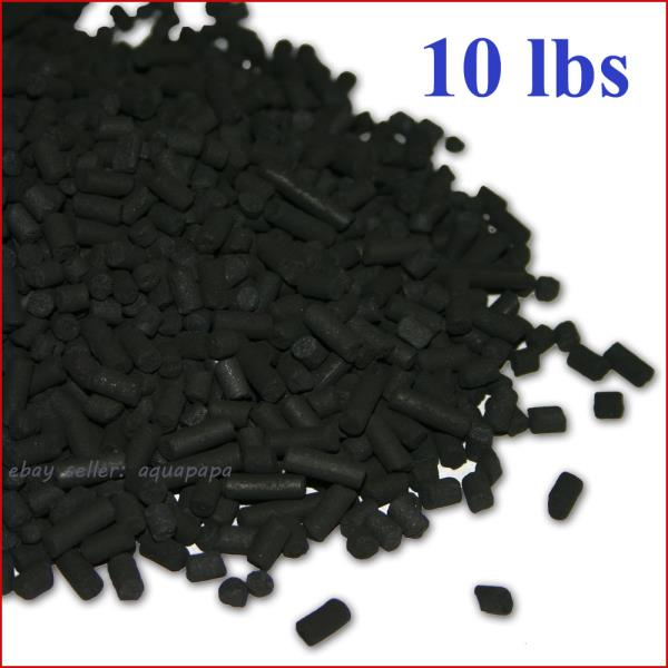 10 lbs activated carbon in bulk for aquarium fish tank koi for Fish tank charcoal