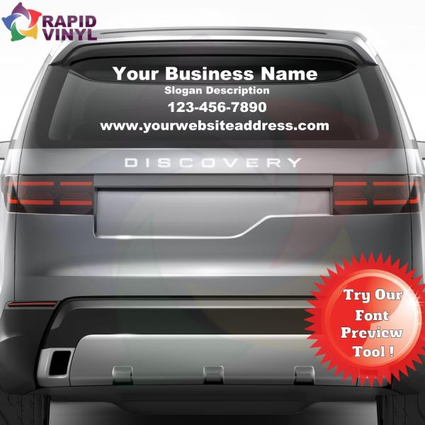 Personalized Custom Business Name Vinyl Window Lettering Decal - Custom vinyl decal application tools