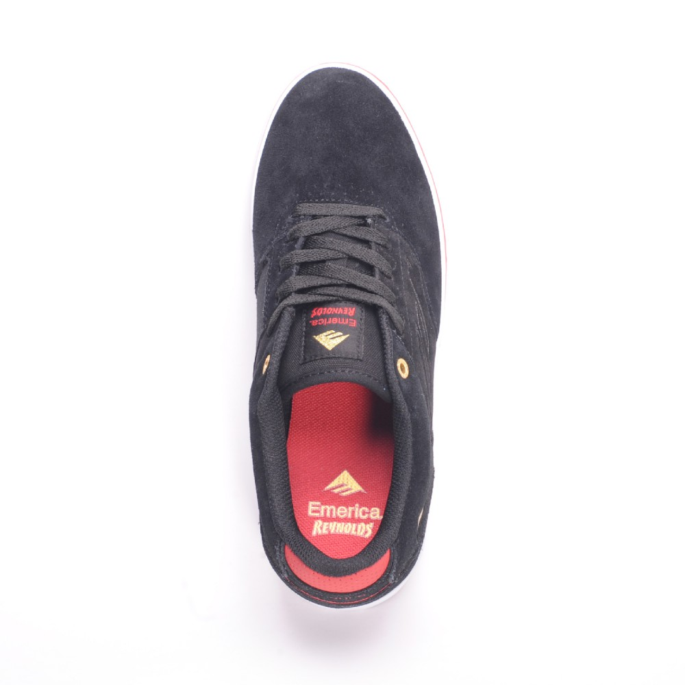 Emerica Shoes Reynolds Low Vulc Black White Red FREE POST New Skateboard Sneakers