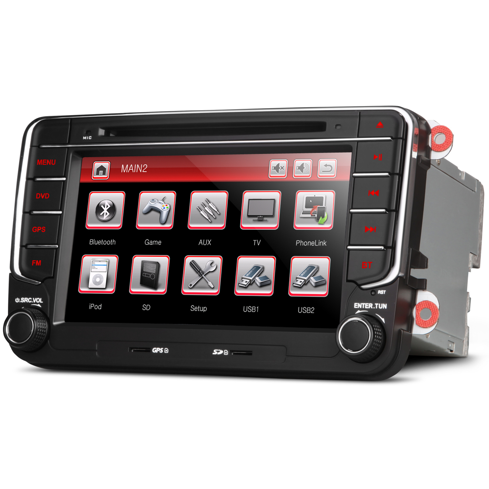 vw caddy bora eos rns510 style stereo gps kudos satnav. Black Bedroom Furniture Sets. Home Design Ideas
