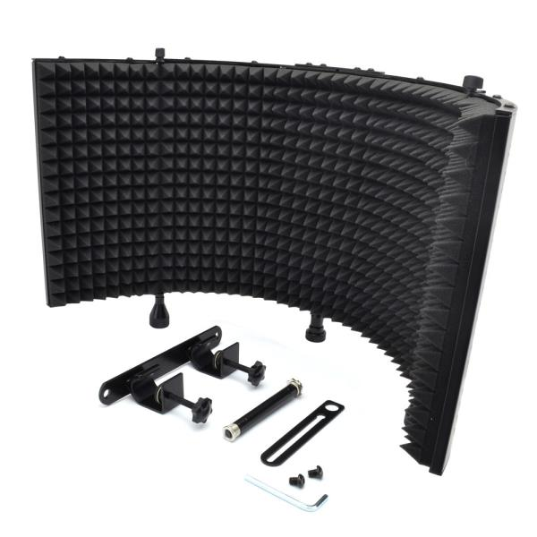 new pyle psmrs 11 microphone absorber isolation shield with sound dampening foam