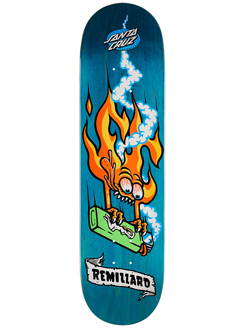 Santa Cruz Skateboard Deck Remillard Lit AF 8.25 Pro FREE GRIP & POST New