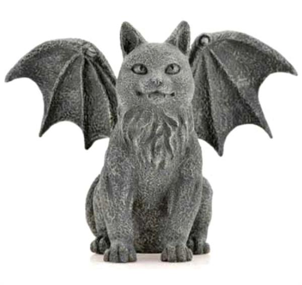"Winged Vampire Cat Gargoyle 6.5"" Table Top Figurine Statue ..."