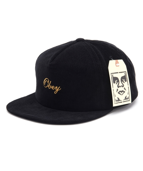 OBEY Cap Reptila Luxe Black Strapback Hat FREE POST New skateboard headwear