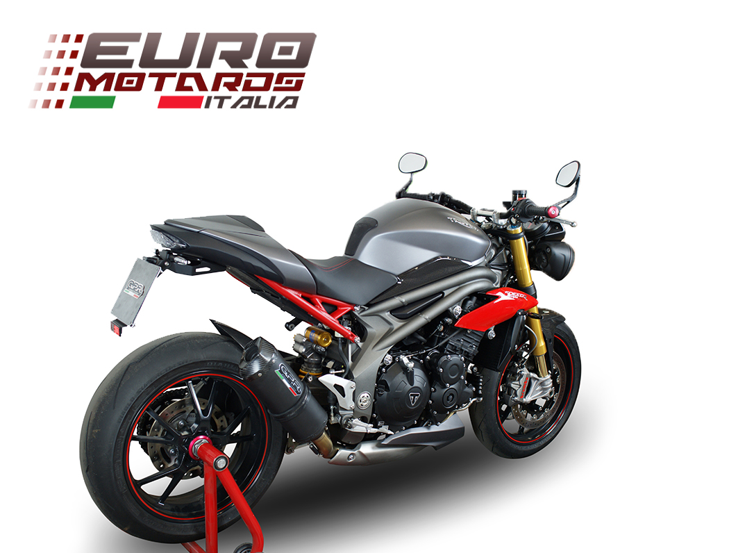triumph speed triple 1050 r 2016 single low gpr exhaust silencer ghisa evo new ebay. Black Bedroom Furniture Sets. Home Design Ideas