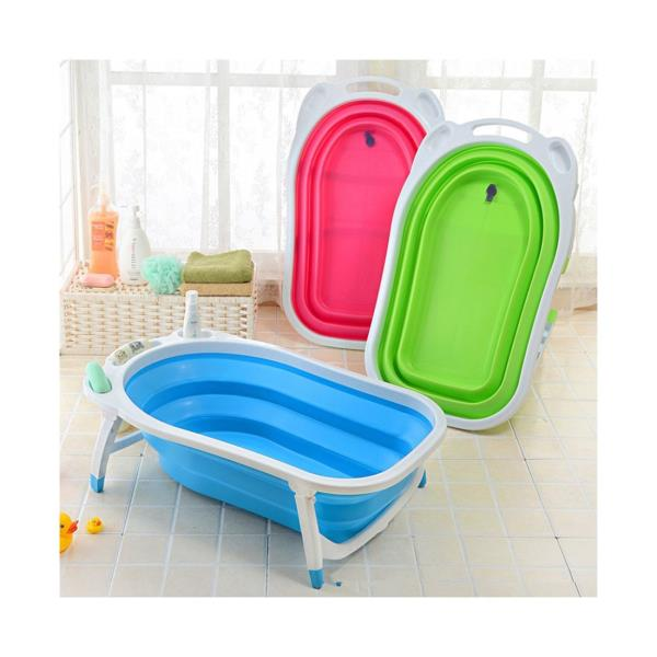 baby folding bath tub green ebay. Black Bedroom Furniture Sets. Home Design Ideas