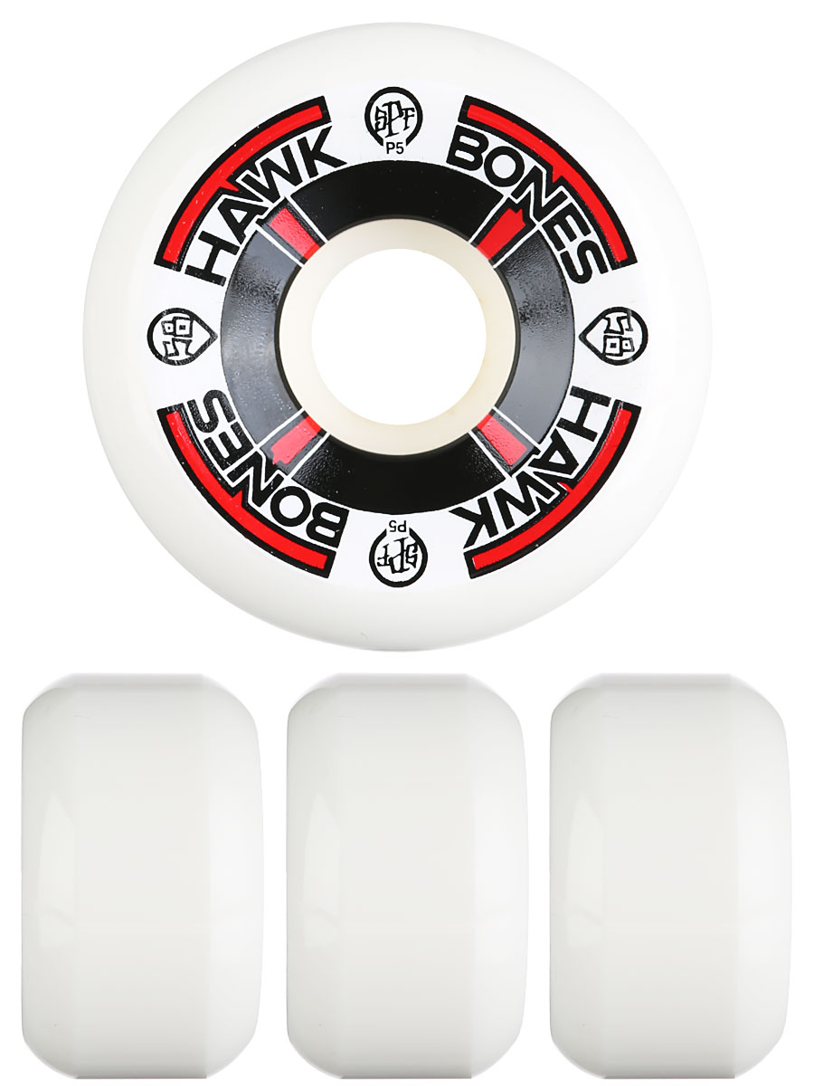 Bones Skateboard Wheels Tony Hawk T-Bone White 60mm SPF 84B P5 FREE POST