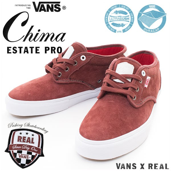Vans Shoes x Real Skateboards Chima Estate Pro Sable FREE POST New Sneakers