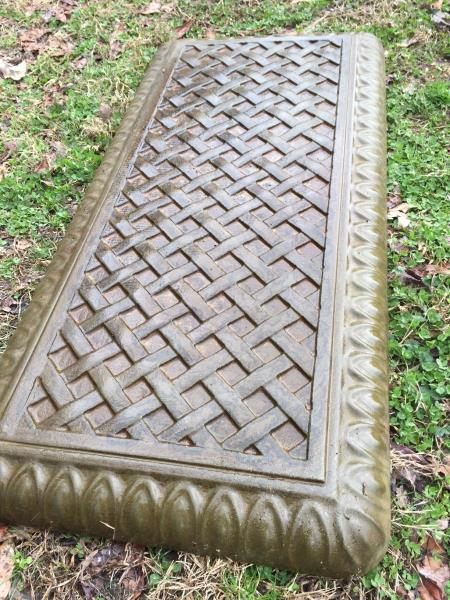 Basket Weaving Molds : Concrete bench mold with basket weave top mould plastic