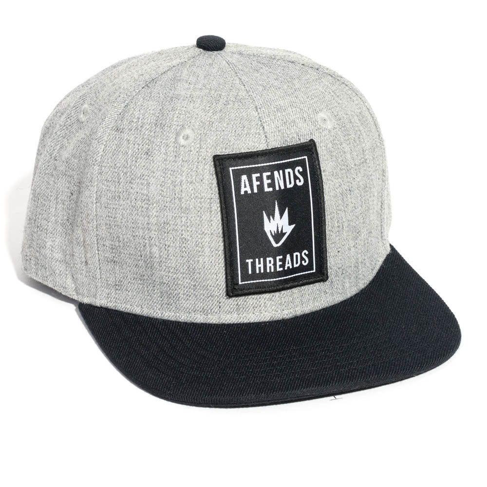 Afends Cap Thread Grey Marle Snapback New Skateboard Surf Band Tattoo Hat FREE POST