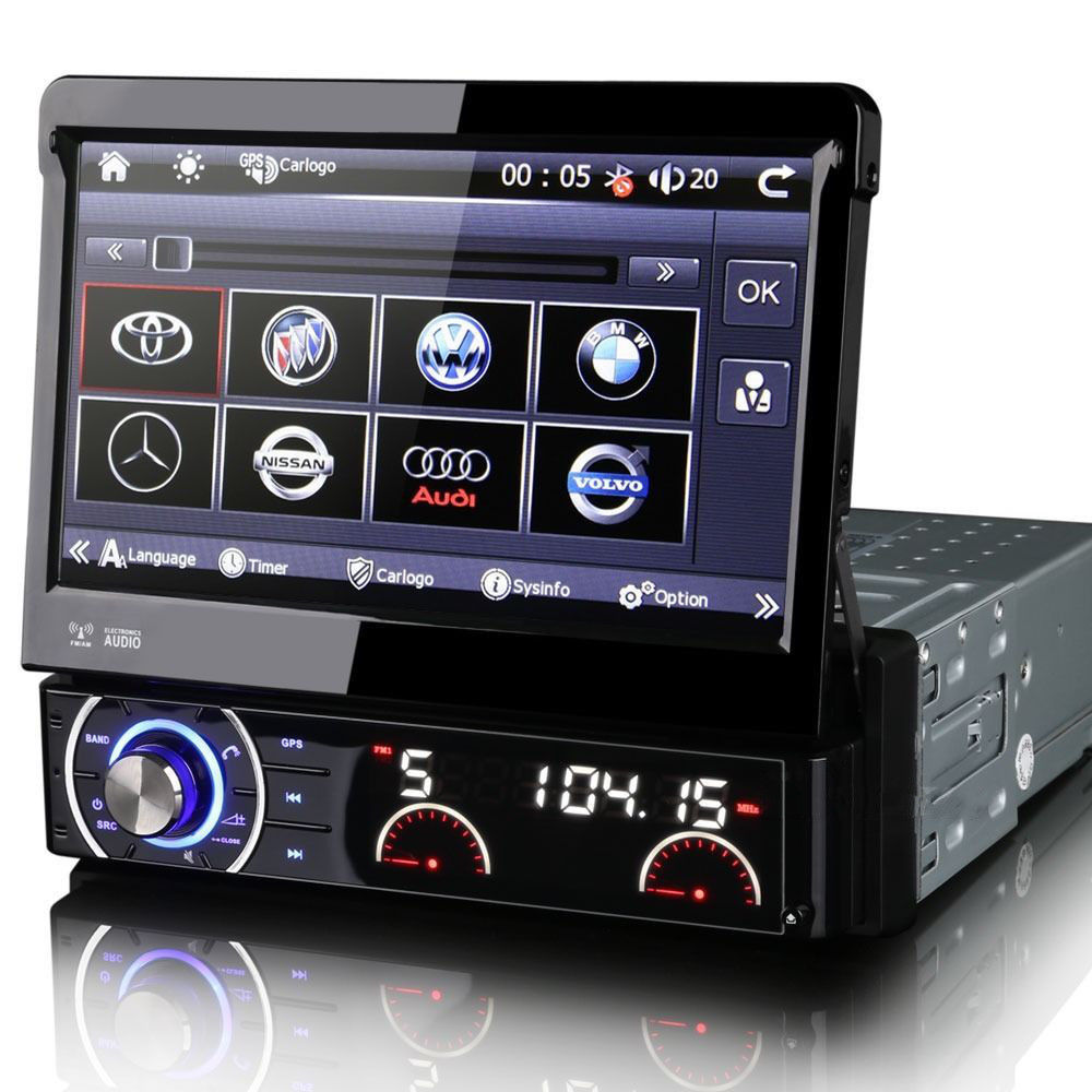 7 single din car radio dvd cd player stereo gps satnav uk. Black Bedroom Furniture Sets. Home Design Ideas