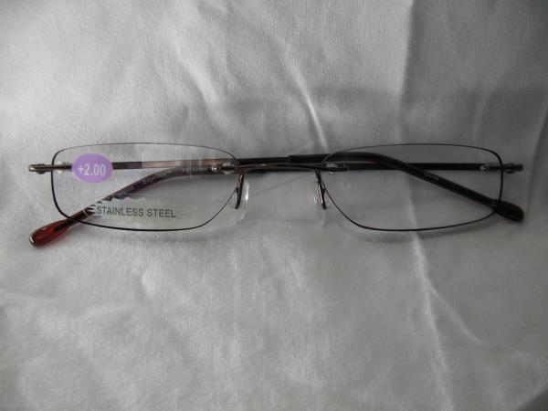 InSight Espresso Rimless Reading Glasses 1.00 1.25 1.50 1 ...