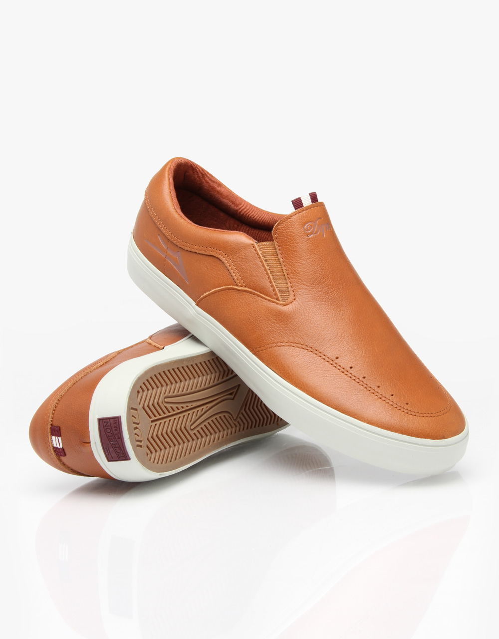 Lakai Shoes Owen Golden Brown Leather Echelon Slip On US SIZE FREE POST New Skateboard Sneakers