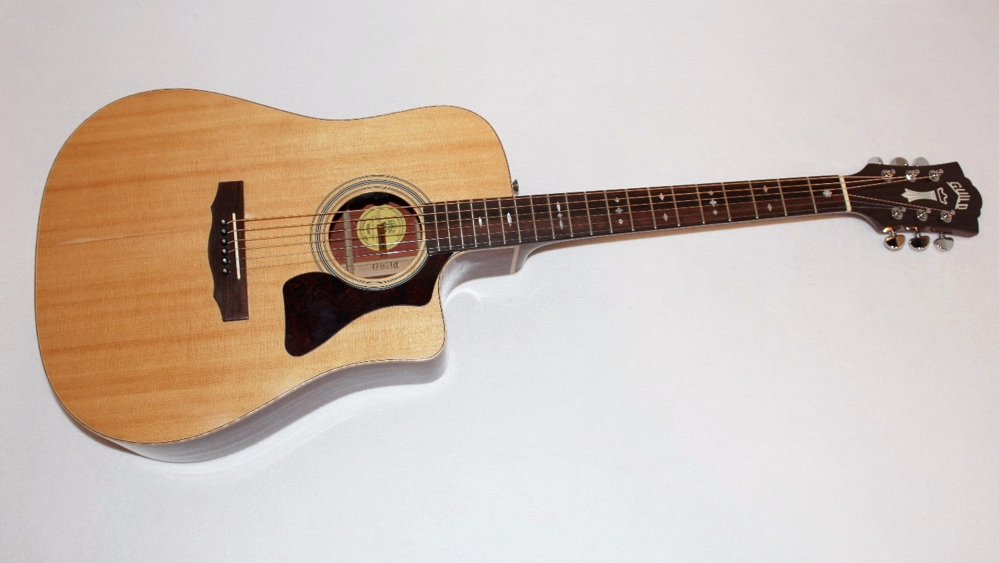 guild gad 50pce dreadnought acoustic electric guitar ebay. Black Bedroom Furniture Sets. Home Design Ideas