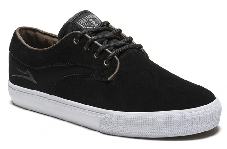 Lakai Shoes FREE POST Riley Hawk Black Suede Skateboard Sneakers