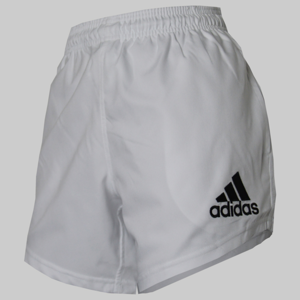 adidas mens climalite performance rugby shorts white. Black Bedroom Furniture Sets. Home Design Ideas