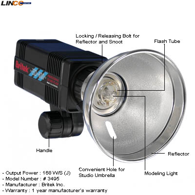 ID Britek#3495 HS-600 Strobe Light 168w/ ...  sc 1 st  Linco Inc. & 1050W Strobe Studio Flash Light Kit Lighting Set Photography CK106 ... azcodes.com