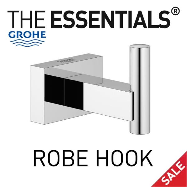 grohe 40511001 essentials cube robe hook ebay. Black Bedroom Furniture Sets. Home Design Ideas